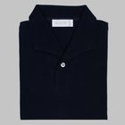 Simon Skottowe - Short Sleeve Polo Shirt navy blue
