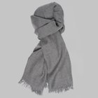 Begg & Co - Kishorn cashmere scarf light grey