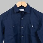Simon Skottowe - Irish Linen overshirt navy