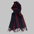 Begg & Co -Highgate lambswool angora scarf navy