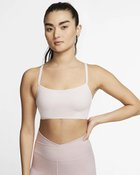 NIKE INDY LUXE BRA BARELY ROSE/