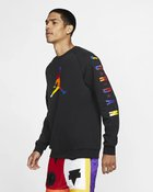 M J SPRT DNA HBR FLEECE CREW BLACK