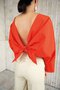 LAGUNA open back tied top - red orange
