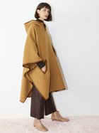 FLORENCE wool poncho gingerbread