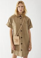 TAMMY short sleeved shirt dress taupe