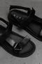 INO LEATHER SANDALS - BLACK