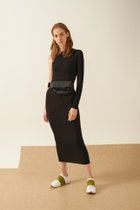 POYA ASYMMETRICAL DRESS BLACK