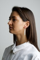 COLLECTION - A / STRUCTURE 1. / glossy-basic / earring white