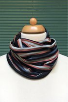 Man Loop Scarf SD4227GBRS - grey-blue-rusty striped/brown