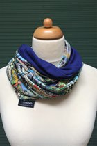 Budapest by sulyandesign loop scarf SD2210BP - Budapest/royal blue