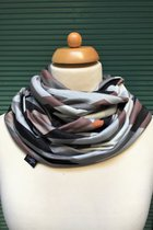 Men Loop Scarf SD4221GTP - grey toned patterned/grey-knitted