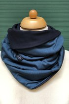 Man Loop Scarf SD4216PPBDB - Plain petrol blue/dark blue