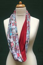 Women Loop Scarf SD41007VE - Venice/red