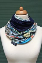 Budapest by sulyandesign loop scarf SD2216BP - Budapest/dark blue