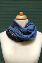 Man Loop Scarf SD4215DY - Dandy yellow/blue