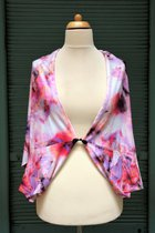 Cardigan SD1020PMP - Pink-mauve patterned/lilac coloured