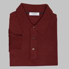 Gran Sasso - Wool/silk tennis sweater brick red