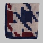 Fiorio - Abstract print pocket square sand