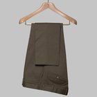 Gabardine cotton trousers olive green