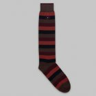 Fumagalli 1891 - Bastia long striped socks brown/rust