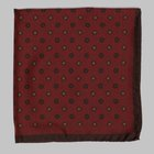 Fiorio - Floral pocket square red