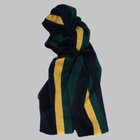 Begg & Co - Jura Stripe lambswool angora scarf green
