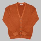Gran Sasso - 'Vintage' Merino wool cardigan orange