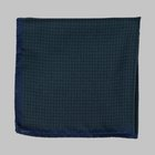Fiorio - Houndstooth pocket square green