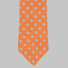 Drake's - Silk/Linen Chevronne Printed Tie orange