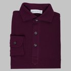 Simon Skottowe - Long sleeve Polo shirt mulberry