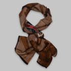 Fumagalli 1891 - Milano wool/silk scarf brown sports equipment