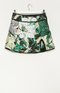 Metallic Floral Jacquard Mini Skirt - MULTI