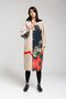 YOKO long coat - Printed fabric coat