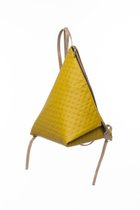MINI DELTA BACKPACK Yellowish green dotted