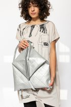 DELTA BACKPACK Silver stitched