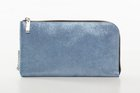 BASIC PURSE WITH ZIP Metallic blue