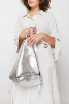 DELTA BACKPACK Silver leather