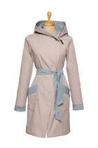 FIFI summer coat beige-light blue