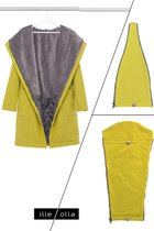 GERTRUD bundle for Mothers (coat+maternity panel+baby panel) mustard yellow-gray